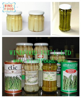 canned white asparagus