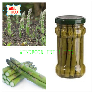 Glass Pot Green Asparagus